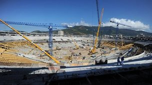 Rebuilding of Maracana stadium in Rio