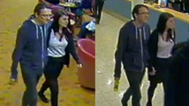 CCTV images of Jeremy Forrest and Megan Stammers on board a ferry to France