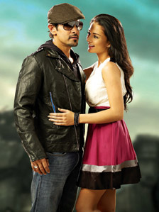 Amy Jackson with Vikram in Thaandavam