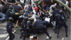 Protesters clash with police. Photo: 25 September 2012