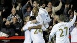 Swansea players mob match-winner Garry Monk
