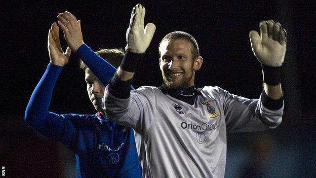 Inverness goalkeeper Ryan Esson