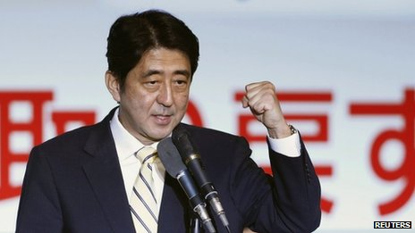 Former Japanese Prime Minister Shinzo Abe, 26 September 2012