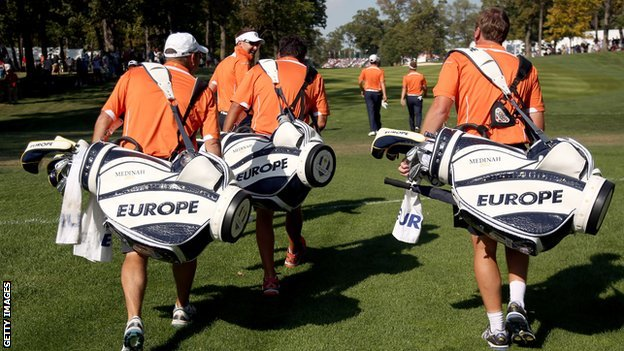 European team at the Ryder Cup
