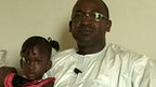 Idrissa Diallo and his daughter