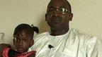 Idrissa Diallo and his daughter