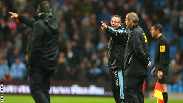 Paul Lambert and Roberto Mancini