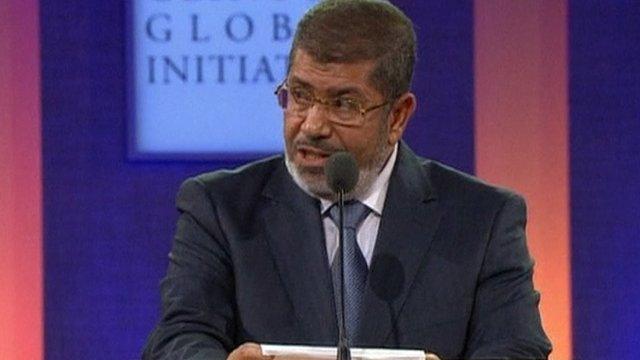 Egypt's President Mohammed Mursi