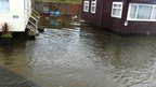 Homes affected by flooding in Blackpool. Photo: Elaine Fulton.