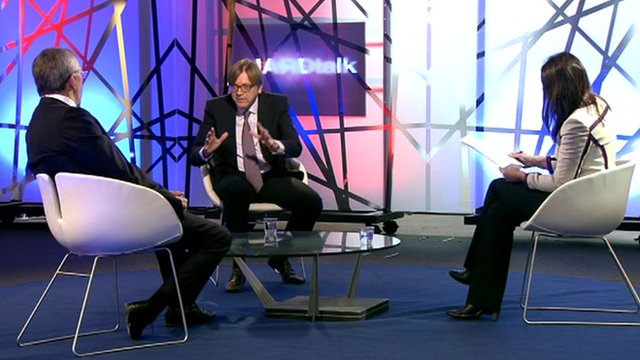 Richard Ashworth, Guy Verhofstadt and Katya Adler