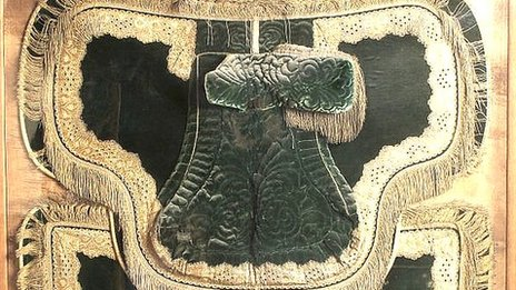 Saddle Cloth reputedly used by Queen Elizabeth I during her state visit to Bristol in 1574