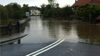 Flooded road in Boroughbridge