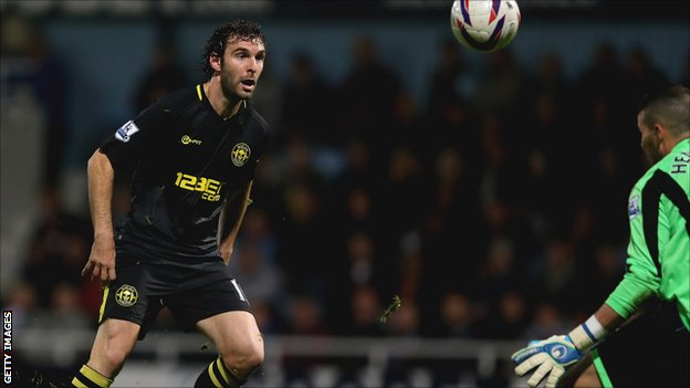 Wigan Athletic striker Mauro Boselli