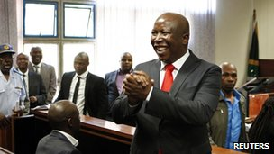 Mr Malema in court