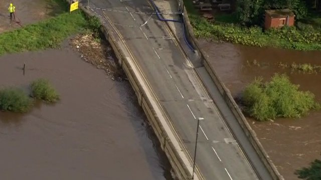 Flood in Tadcaster