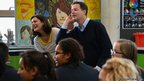 Nick Clegg and his wife Miriam visit Brighton Aldridge Community Academy