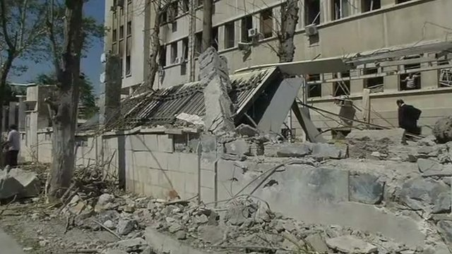 Aftermath of blast in Damascus