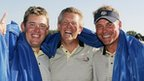 Lee Westwood, Colin Montgomerie and Darren Clarke