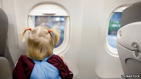Toddler on a plane