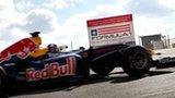 Red Bull car at the Austin circuit