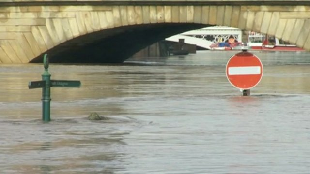 River Ouse in York which has burst its banks