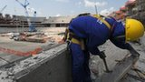 Worker helping rebuild Maracana Stadium