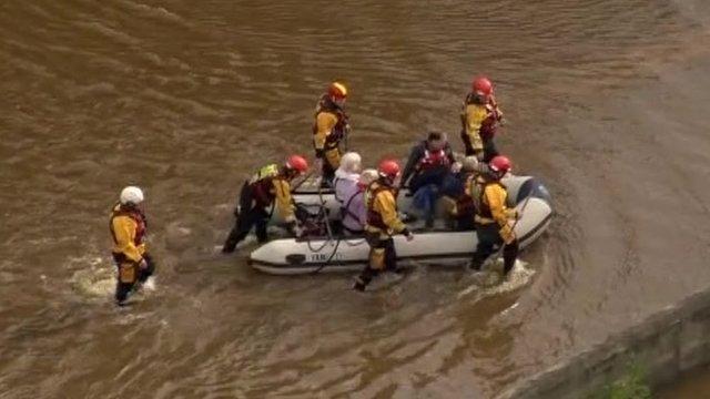 Rescue operation in Boroughbridge