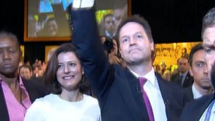 Nick Clegg and Miriam Gonzalez Durantez