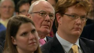 Sir Menzies Campbell, Danny Alexander and Jo Swinson
