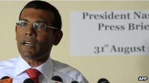 Former Maldivian President Mohamed Nasheed (August 2012)