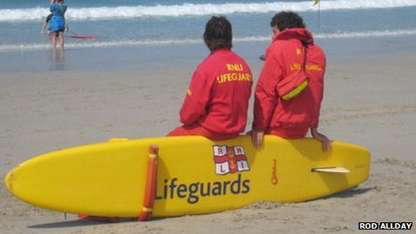 RNLI beach lifeguards in Cornwall