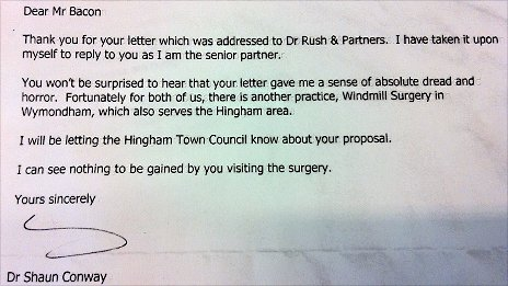 Dr Conway&#039;s letter
