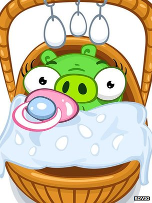 Artwork from Bad Piggies