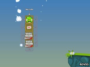 Screenshot from Bad Piggies