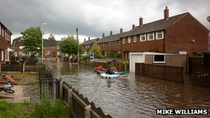 Flooding in Hindley