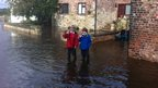 Flooding affects Ulleskelf in North Yorkshire