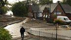 Receding floodwaters in Newburn, Newcastle
