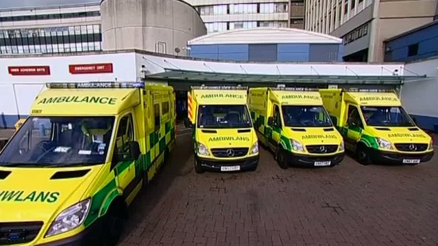 Ambulances at the University Hospital of Wales, Cardiff