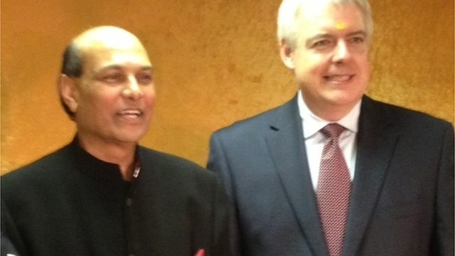Raj Aggarwal and Carwyn Jones