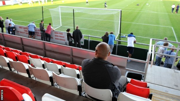 Fans at Dagenham