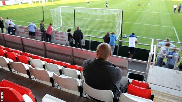 Fans at Dagenham