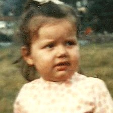 Claire as a child
