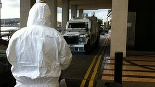 Bombs were left close to Derry city council offices