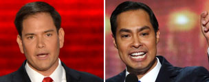 Marco Rubio and Julian Castro