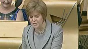 Nicola Sturgeon at FMQs