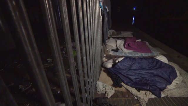 Illegal immigrants sleeping rough