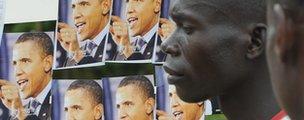 Obama posters in Kenya