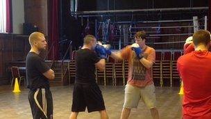 Boxing at Coatham Memorial Hall