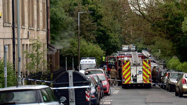 Scene of a fire in Polwarth, Edinburgh