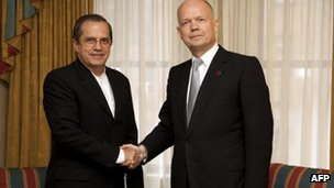 Ricardo Patino and William Hague 